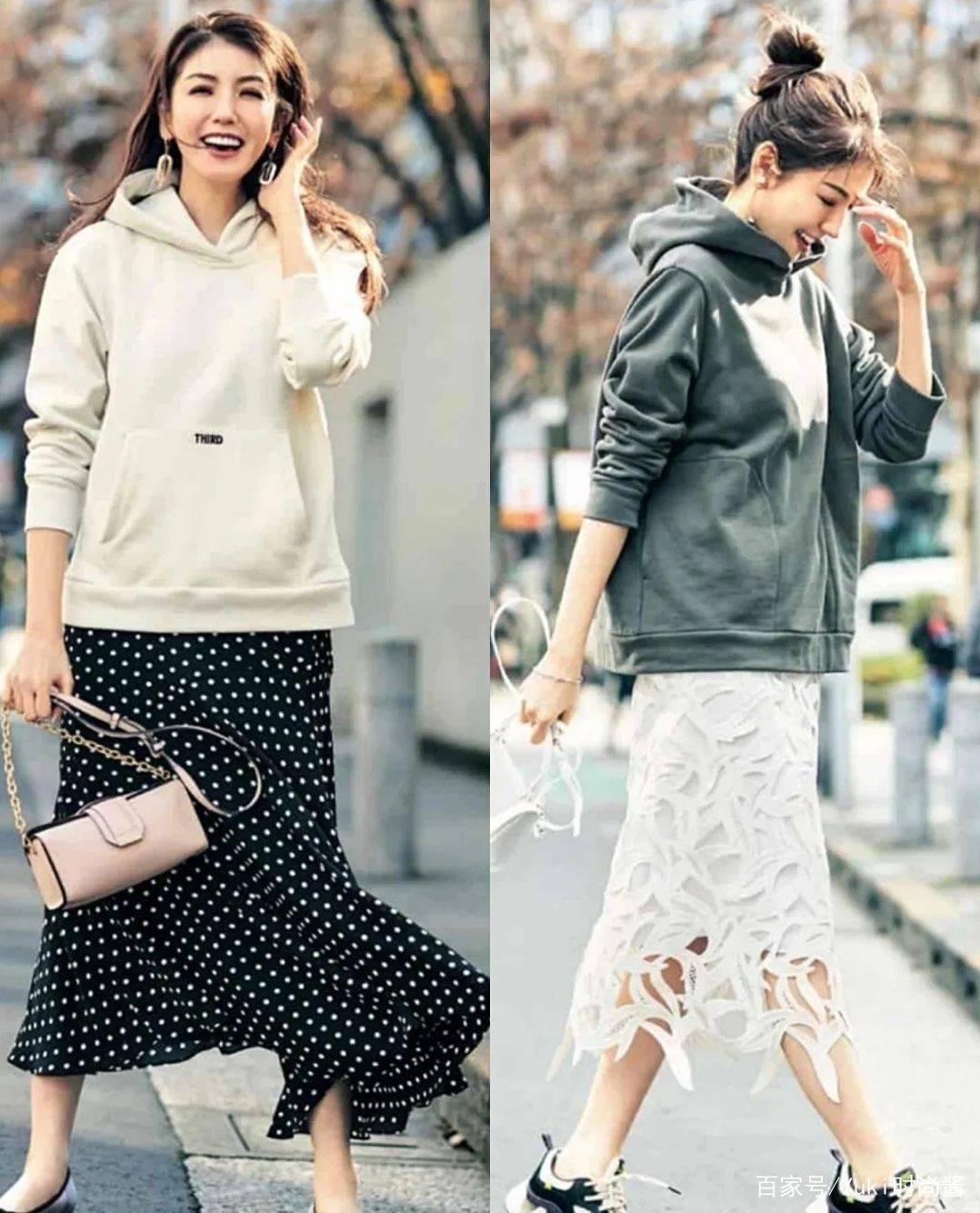 初秋搭配其实很简单,时髦又减龄的卫衣,3种方式穿出百变风格