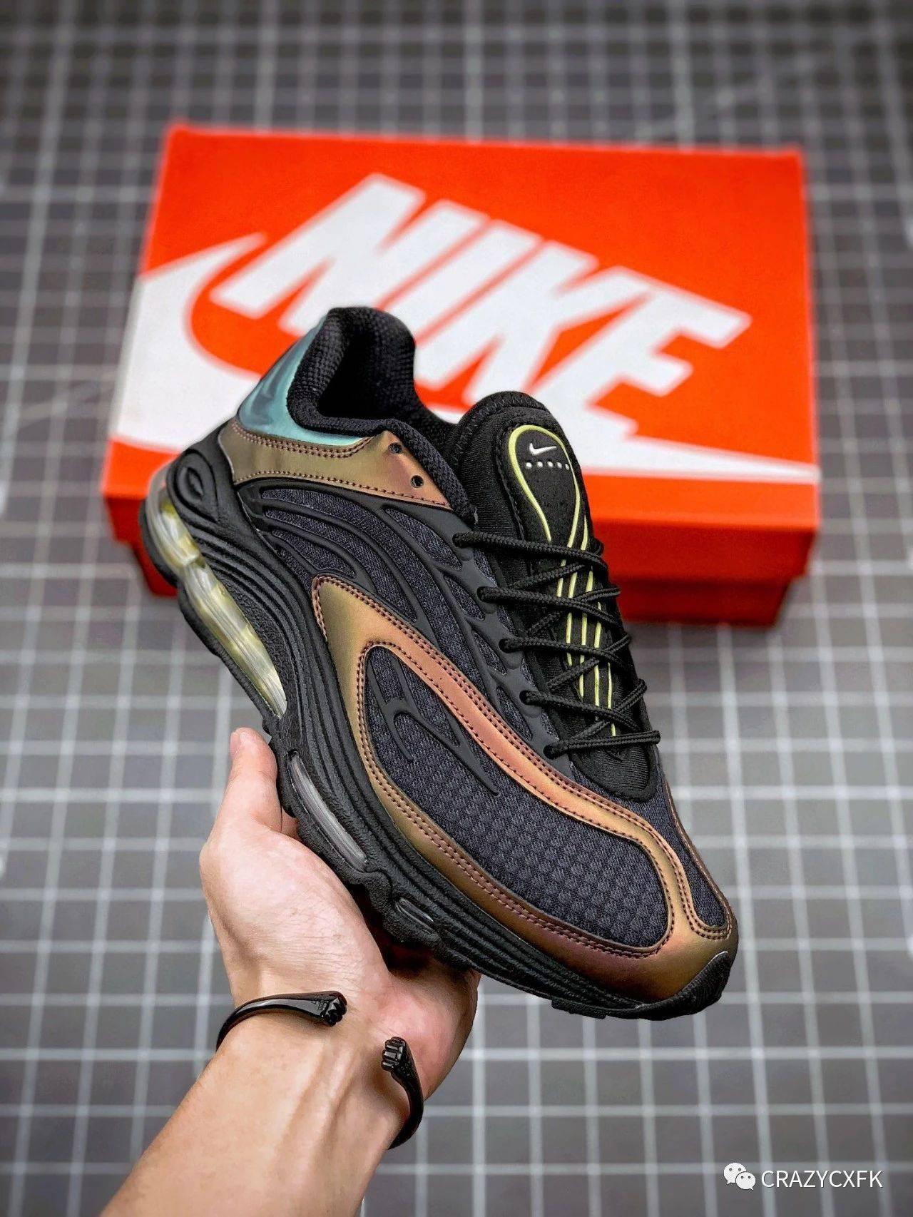 耐克NikeAirTunedMaxDarkCharcoal黑蓝铜稠气垫运动鞋