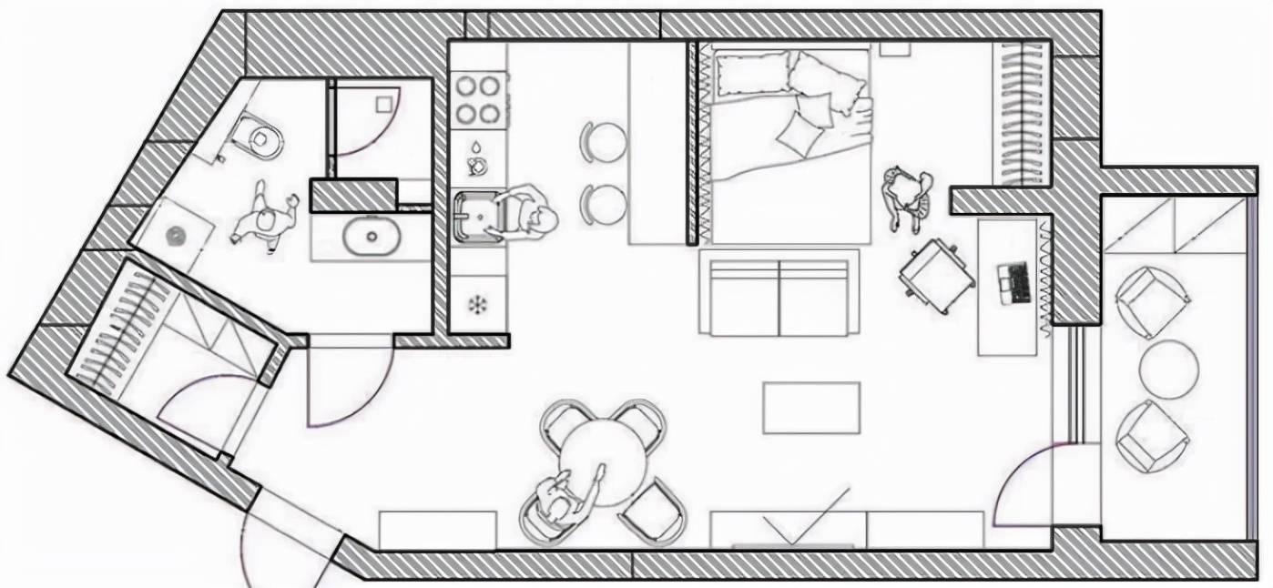 39㎡温馨小一居室,运用暖色装点房间,别致又安逸,真是学到了