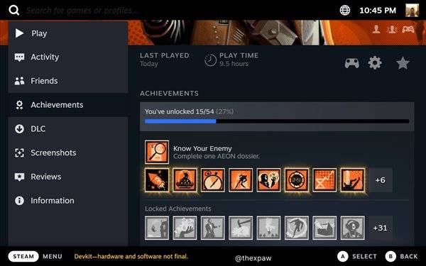 Steam|Steam Deck掌机UI曝光 总体以Steam经典布局为蓝本