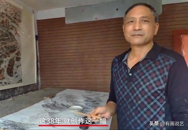 59岁老人38年走遍祖国河山,欠债80万,画出7500米万里河山复兴图