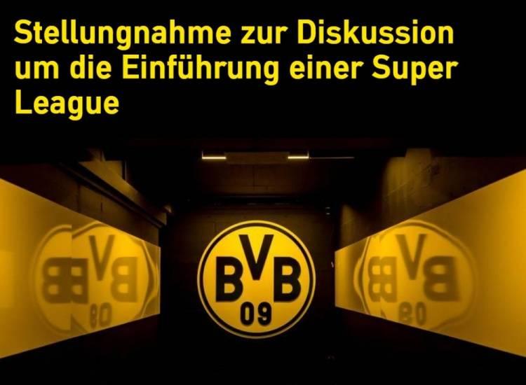 多特官方:与拜仁立场一致 拒绝欧洲超级联赛提案