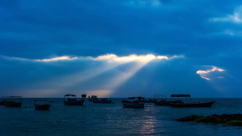 博鳌小镇的晨昏光影