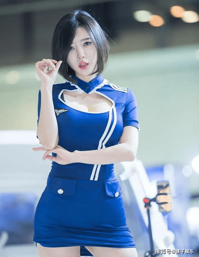韩国美女车模,模样甜美身材火辣,百看不厌(图3)