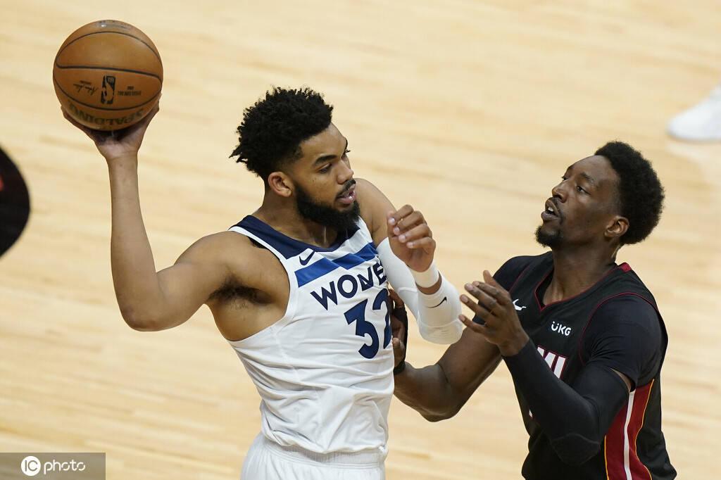 NBA常规赛热火121-112击败森林狼
