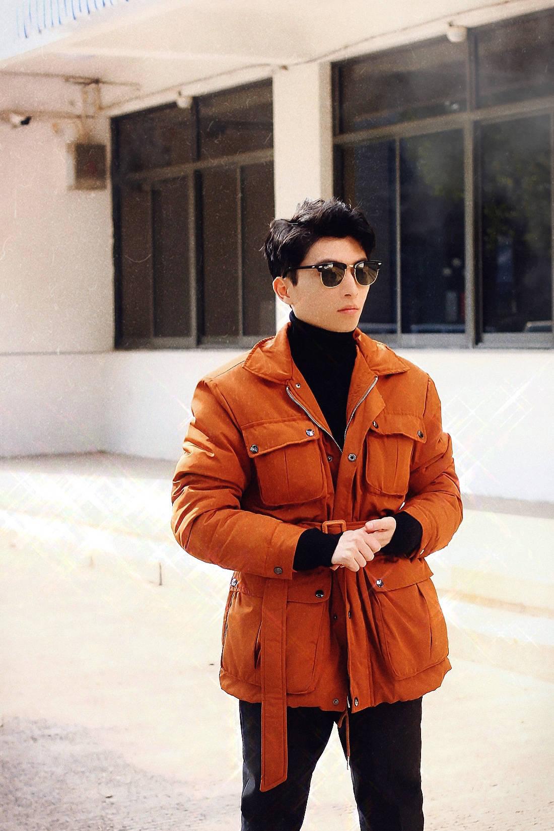 【男士时尚】丨橘色夹克混搭,生活随拍记录...                                   图2