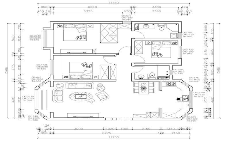 150㎡三室兩廳,現代美式風格設計,滿屋的豪宅氣質超迷人!