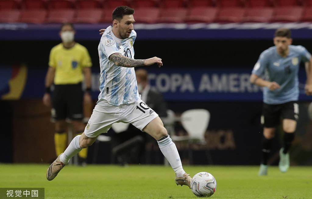 美洲杯-梅西助攻铁腰头槌破门 阿根廷1-0胜乌拉圭