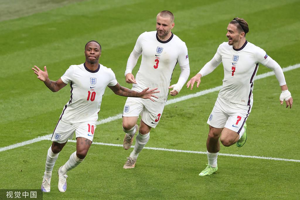 欧洲杯-斯特林破门凯恩立功 英格兰2-0德国晋级8强