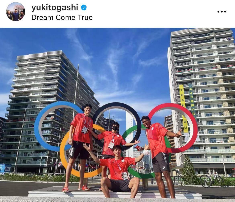日本男篮入住奥运村 富坚勇树晒与海外三人组合影