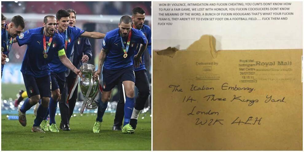 不满欧洲杯决赛失利 三狮球迷写信辱骂意大利驻英使馆_CQ9游戏注册