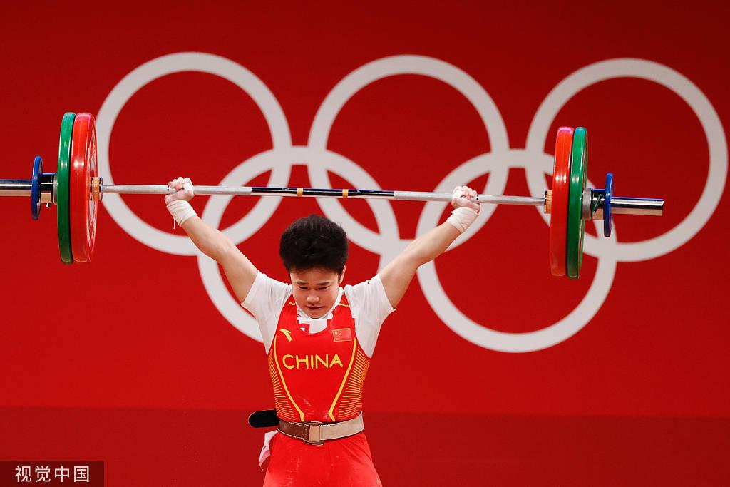 中国举重队东京奥运完美收官 7金1银展现中国力量