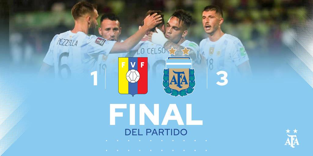 世预赛-劳塔罗传射梅西造红牌 阿根廷3-1委内瑞拉
