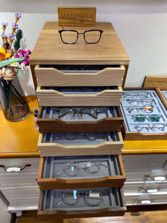 天津眼镜店日本手造masunaga增永KameManNen万年龟与日本国民品牌999.9对比