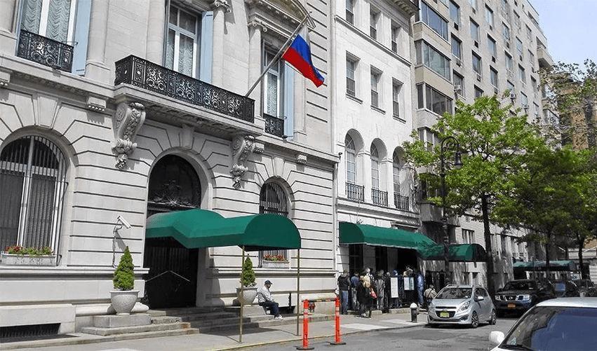 """俄罗斯驻纽约总领馆""""几十条""""电话线全部中断 美方称是技术问题"""