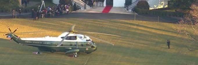 特朗普离开白宫,前往佛州海湖庄园