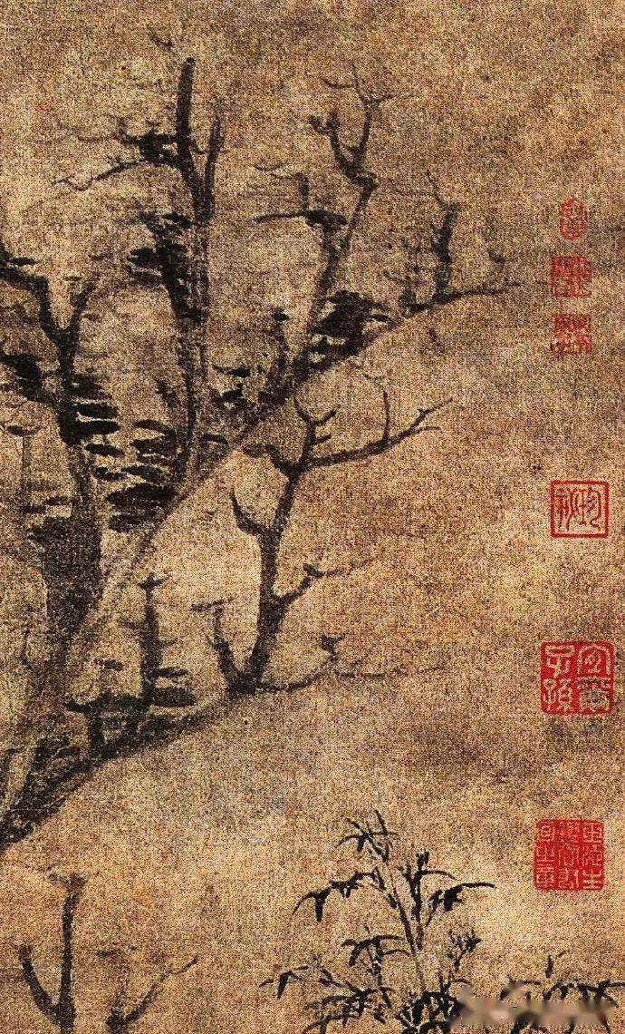 元•倪瓒《苔痕树影图》的传奇经历,从发现时的几元钱到价值过亿