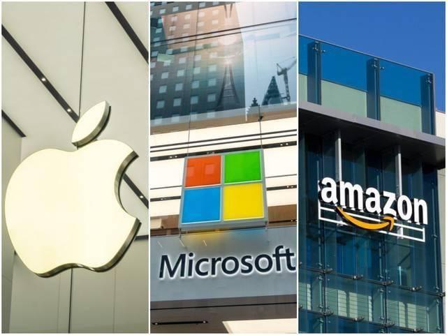 有望赚钱的三大科技公司是:苹果、亚马逊和微软