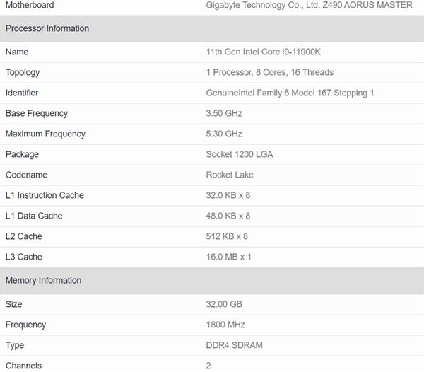 Intel 11代酷睿单核碾压Zen3!8核比美10核