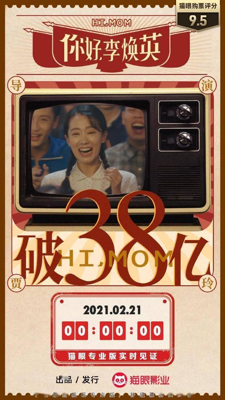 电影《你好,李焕英》总票房破38亿