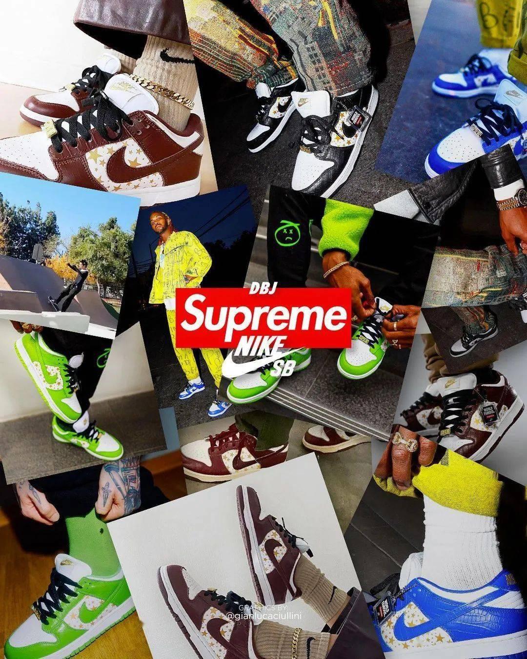 细节改动不少!Supreme x Air Jordan 1 最新消息!