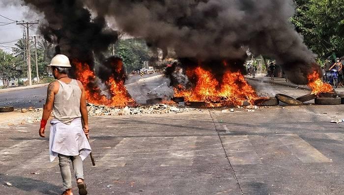 在缅中资企业遭打砸抢烧,中国大使馆:性质十分恶劣_缅甸