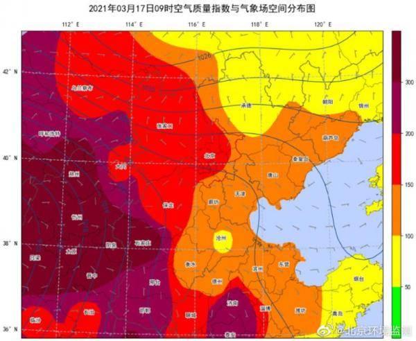 北京市今明两日不断遭受风沙流回危害