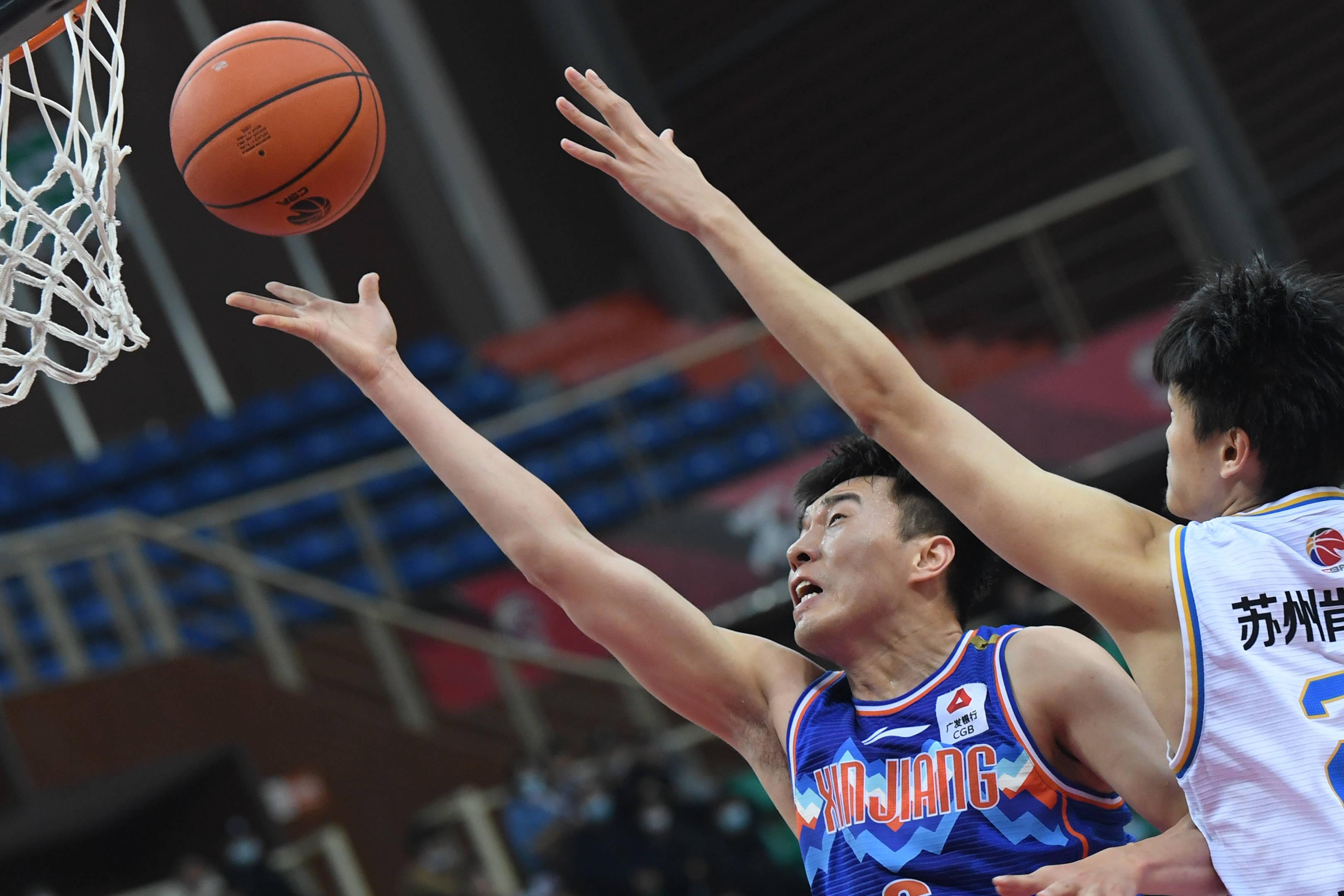 篮球——CBA第四阶段:新疆伊力特胜苏州肯帝亚