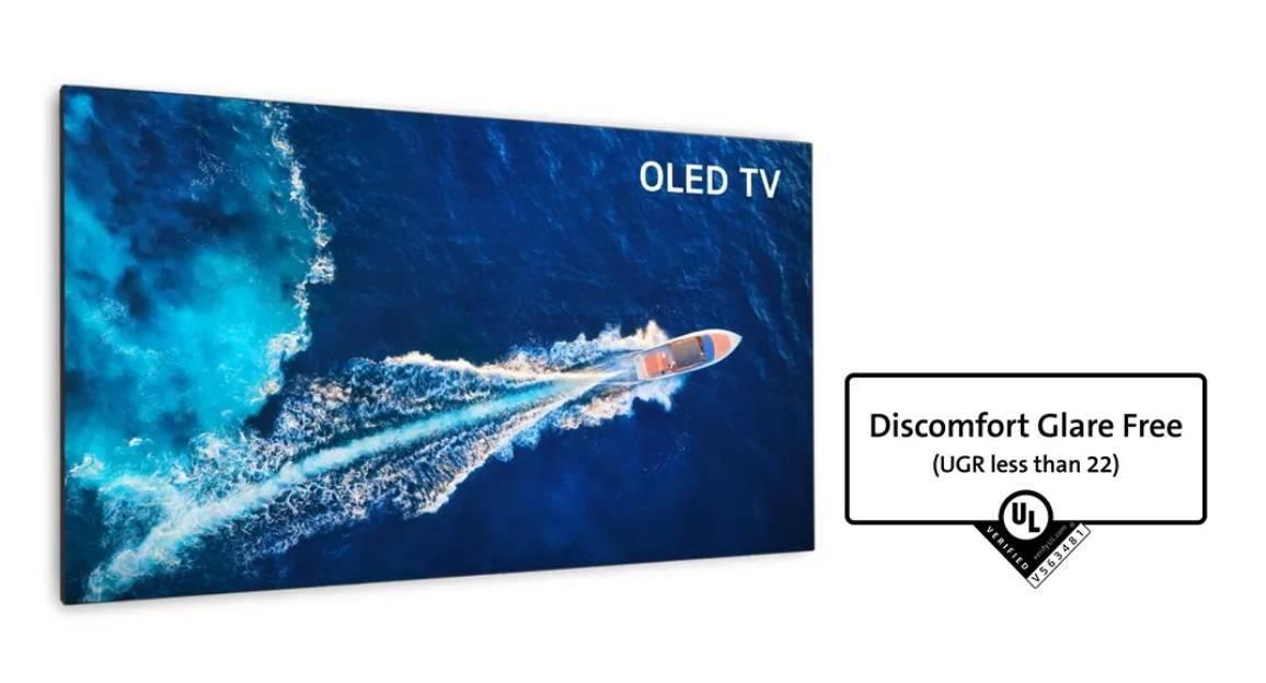 "LGD OLED 电视面板获得""防止炫光的显示产品""国际验证"