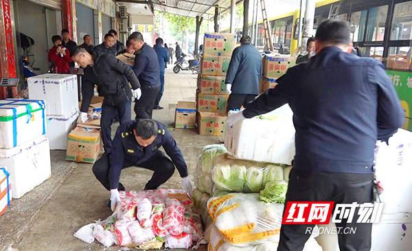 祁东县开展水果批发市场环境卫生专项整治