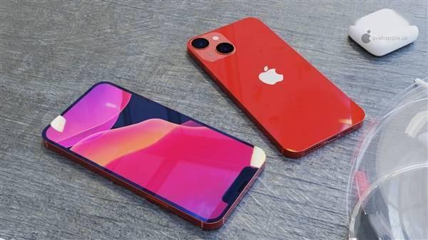 iPhone 13 mini高清渲染图:刘海更下、屏占比更高的照片 - 2