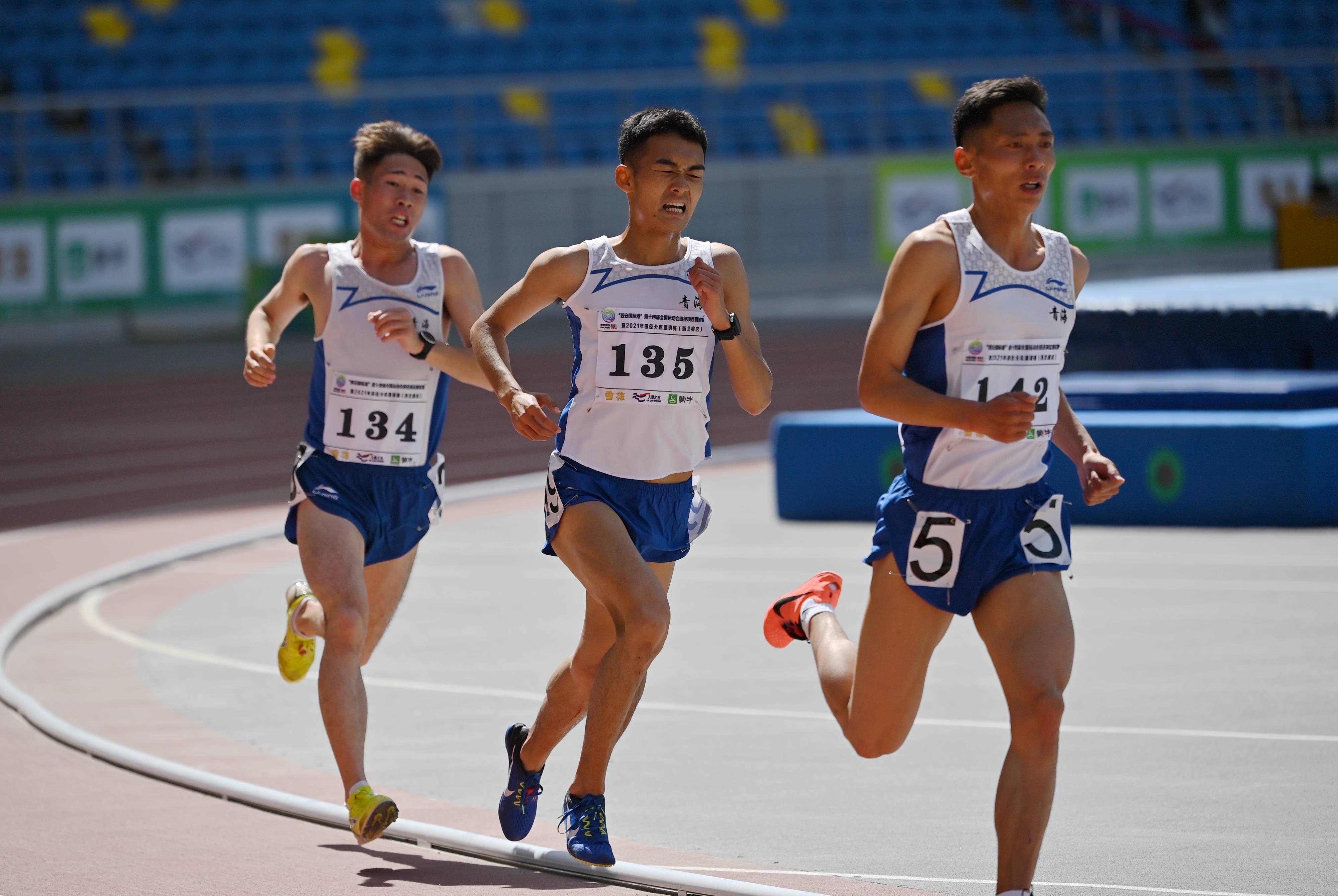 田径——全运会测试赛:男子10000米赛况