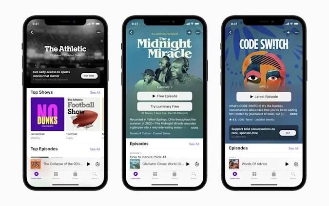 苹果将于6月15日推出播客付费订阅服务 每年19.99美元