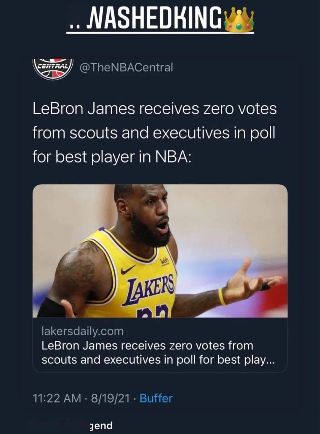 湖人希望他退役!詹姆斯0票!亲自回应:我过气了